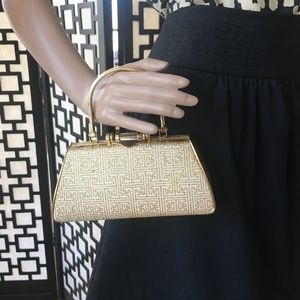 Gold and White Evening Purse